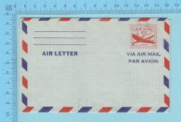USA  - Aerogram , Never Used, Air Letter Via Air Mail, Par Avion 2 Scans - Tchécoslovaquie
