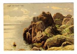 ANGLETERRE  /  LOGAN  ROCK  (  LAND' S  END  ) /  Tableau De Karl Paul Themistokles Von ECKENBRECHER - Land's End
