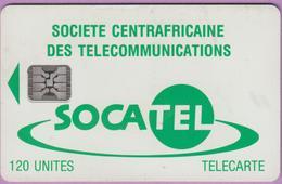 Télécarte CENTRAFRIQUE °° N 19 . Socatel Vert - Sc4 - Grand Embouti 3771 ° B E Courant R / V - Centrafricaine (République)