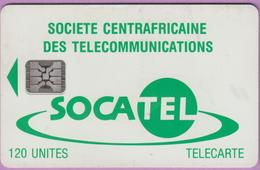 Télécarte CENTRAFRIQUE °° N 19 . Socatel Vert - Sc4 - Grand Embouti 3771 ° B E Courant R / V - Repubblica Centroafricana
