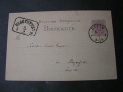DR Coeln Karte 1879 Nach Klangebfurt , Schöner Kastebstempel .. - Deutschland