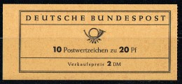 1963  Bach  MiNr MH 9 U - BRD