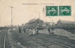 76 - NESLE-NORMANDEUSE - Seine-Maritime - La Verrerie Et La Gare - France