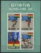 1969 Ghana, Olimpiadi Del Messico  , Foglietto Nuovo (**) - Ghana (1957-...)