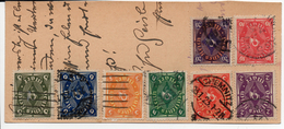ALLEMAGNE...8 TIMBRES DUR CP (COUPEE) - Lettres & Documents