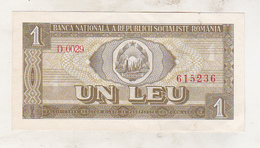 Romania 1 Leu 1966 Excellent Condition - Rumänien