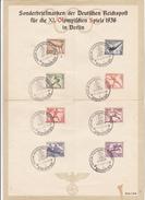 ALLEMAGNE  REICH  DOCUMENTS DE PROPAGANDE JEUX OLYMPIQUES BERLIN 1936 (DOCUMENT PLIE EN 4)