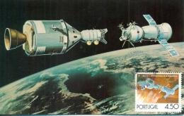 CM-Carte Maximum Card #1975-Portugal #  Espace-Space-Raumfahrt # Astronautica -Apollo-Soyuz - Cartes-maximum (CM)
