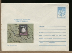 ROMANIA - Intero Postale - 2000 Anni Fondazione PETRODAVA  -  PIATRA NEAMT -  VASO DI BRONZO - Archeologia