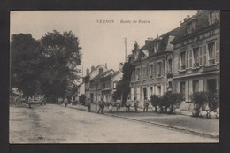 CPA : Dépt.27. VERNON . Route De ROUEN . Militaires, Attelages . - Vernon