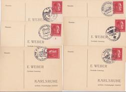 ALLEMAGNE III EME   REICH PROPAGANDE  6 DOCUMENTS FIRME WEBER - Briefe U. Dokumente