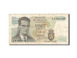 Belgique, 20 Francs, 1964-1966, KM:138, 1964-06-15, B+ - [ 6] Treasury