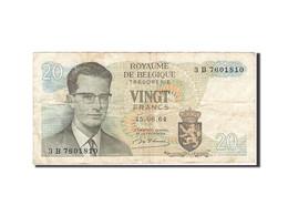 Belgique, 20 Francs, 1964-1966, KM:138, 1964-06-15, TB - [ 6] Treasury