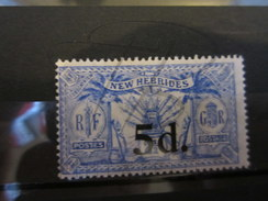 VEND TIMBRE DES NOUVELLES-HEBRIDES N° 79 , NEUF AVEC CHARNIERE !!!! - Légende Anglaise