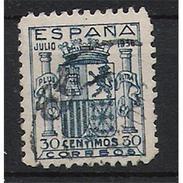 ES801STVCPA-LFTU801TSES.España. Spain.Espagne.ESCUDO DE ESPAÑA.Granada 12936.1938.( Ed 801º) - Sellos