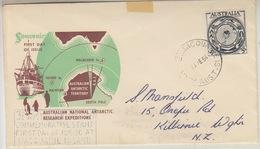 Macquarie Island 1954 Anare 1v  FDC (34128) - FDC