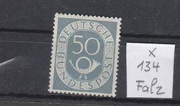 BRD * 134 Posthorn Katalog 50,00 - [7] République Fédérale