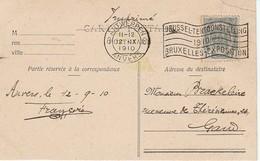 (D0559) Exposition De Bruxelles 1910: Flamme Publicitaire De Antwerpen 6 - Otros
