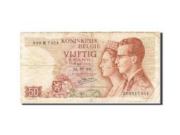 Belgique, 50 Francs, 1964-1966, KM:139, 1966-05-16, B - [ 6] Treasury