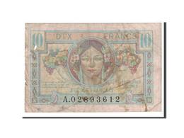 France, 10 Francs, 1947, Undated, KM:M7a, TB, Fayette:vF 30.1 - Treasury