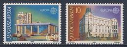 Jugoslavija Yugoslavia 1990 Mi 2414 /5 YT 2283 /4 ** Skopje Post Centre + Belgrade Telephone Exchange / - Ongebruikt