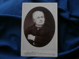 Photo Format Cabinet Pierre Petit à Paris - Beau Portrait Homme, Notable, Bourgeoisie Vers 1880 L289 - Photos