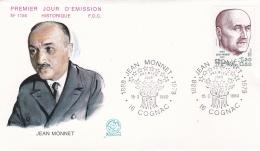 France FDC 1980 Jean Monnet  (T3-1) - FDC