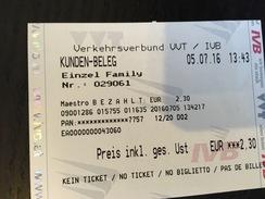 Ticket De Tram Innsbruck - Europe