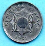 R80/  PEROU 1 Centavo 1955 Zinc - Pérou