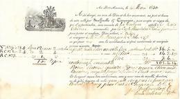 "4 Mars 1830 - Au PORT-MAURICE (Porto-Maurizo) ITALIE - Connaissement Tartane ""La Marie-Thérèse"" - Historical Documents"