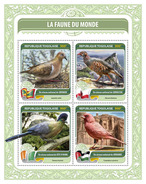 TOGO 2016 - Fauna Of World 15: Partridge. Official Issue.