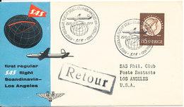 Sweden First SAS Regular Flight Stockholm - Los Angeles Via Greenland 15-11-1954 - Suède