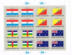 Nazioni Unite - FogliettO MNH Serie Bandiere Flag Series United Stations 20c Nuovo** Integro . - Collezioni & Lotti