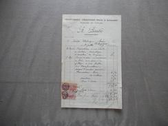 SAINS RICHAUMONT AISNE A. BAUBE CHARRONNAGE CARROSSERIE ATTELEE & AUTOMOBILE PEINTURE EN VOITURE FACTURE DU 24/7/1939 - France