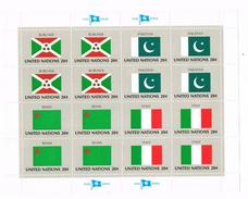 Nazioni Unite - Foglietto MNH Serie Bandiere Flag Series United Stations 20c Nuovo** Integro . - Collections, Lots & Séries