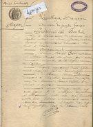 VP6818 - CLAIRAC - Acte De 1889 - Obligation Par F.COSTES à A.LALAURIE De LAFITTE - Manuscripten