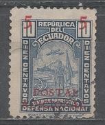 Ecuador 1937. Scott #RA40 (U) Symbolical Of Defense ** - Equateur