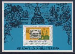 "PDR Yemen / South Yemen 1984 Mi B A22 + Overprint ""XXIII Olympic Games 1984"" ** Sir Rowland Hill + Stamp Aden Mi 12 - Zomer 1984: Los Angeles"