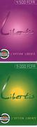 TOGO 1996-98 PREPAYE PREPAID 2 CARTES TOGOCEL LIBERTIS CARDS 4500 ET 9000 CFA
