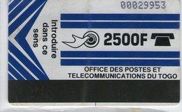 TOGO 1996-98 OPT TOGO LOGO MAGNETIQUE 2500 CFA