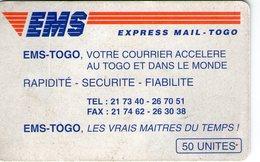 TOGO OPT CHIP CARD CARTE A PUCE EMS 50 UNITES - Togo