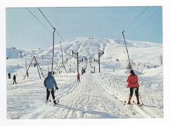 73 Le Corbier Vers St Jean De Maurienne En 1971 En Piste Vers Les Cîmes Skieurs Tire Fesses - Saint Jean De Maurienne