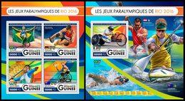 GUINEA 2016 - Rio Paralympics - YT 8513-6 + BF1991; CV=44 € - Handisport