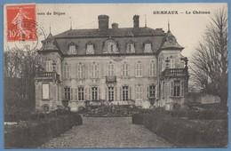 CPA Château De Gémeaux Voy Facteur Boitier Gémeaux 1920 + Taxe N° 29 (scan Verso) - Autres Communes