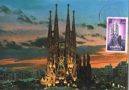 20648. Tarjeta Maxima BARCELONA 1970. Sagrada Familia, Ed 1283