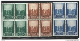 VATICANO VATIKAN VATICAN 1944 PRO PRIGIONIERI MCMXLIII SERIE COMPLETA QUARTINA COMPLETE SET BLOCK MNH - Blocks & Sheetlets & Panes