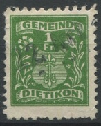 1548 - DIETIKON - Fiskalmarke - Steuermarken
