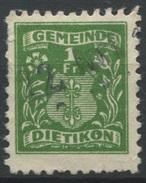 1548 - DIETIKON - Fiskalmarke - Fiscaux