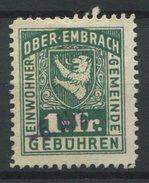 1550 - OBER-EMBRACH - Fiskalmarke - Steuermarken