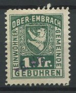 1550 - OBER-EMBRACH - Fiskalmarke - Fiscaux